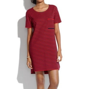 Madewell Red Striped Pocket Dress - Small